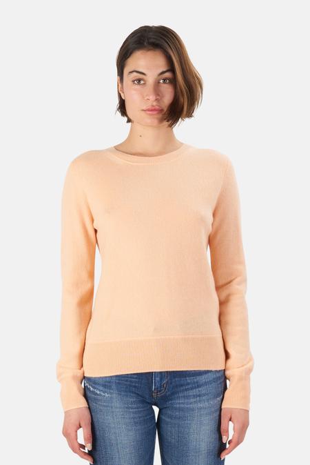 NAADAM Crew Pullover Sweater - Peach