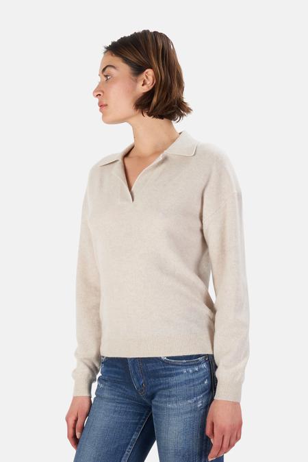 NAADAM V Neck Pullover Sweater - Linen
