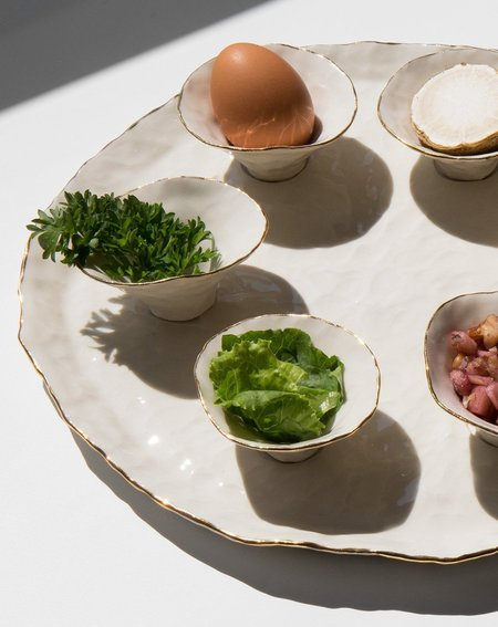 Isabel Halley The Seder Plate - white
