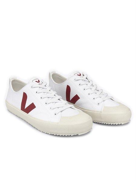 VEJA Nova Canvas Sneakers - White/Marsala