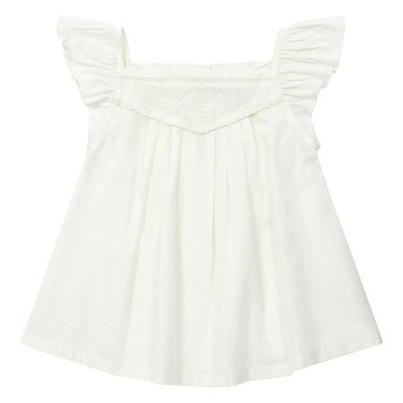 Kids Bonton Anemone Blouse - Pearl White