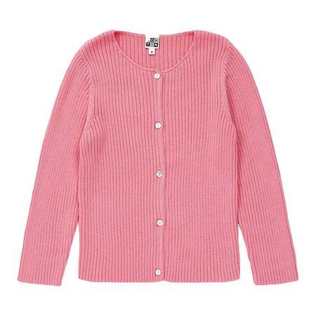 Kids Bonton Mouton Cardigan - Rose Pink