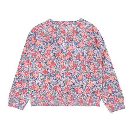 Kids Bonton Mure Cardigan - Dark Pink Floral Print
