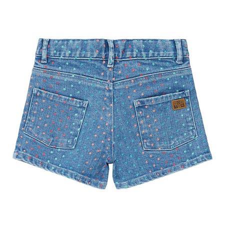 Kids Bonton Neon Shorts - Star Dot Print