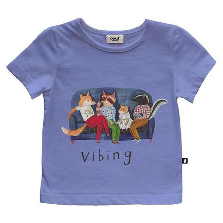 Kids Oeuf T-shirt - Iris Blue/Vibing Print