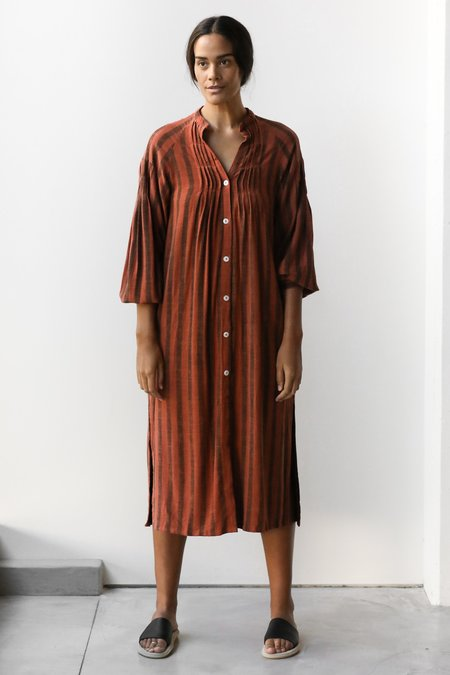 at Dawn. Stripe Mid Shirt - Brown Stripe