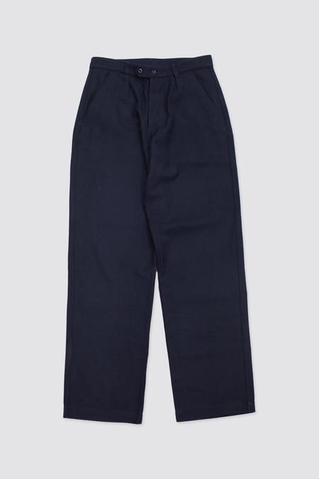 MHL Patch Pocket Trouser Wool Cotton Drill Dark Navy