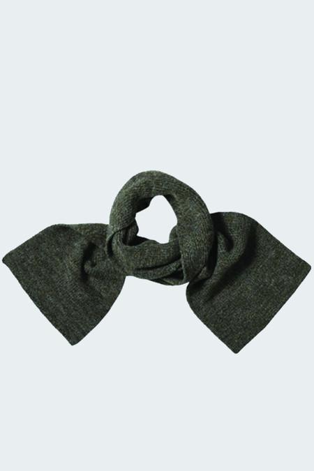 MHL Ribbed Scarf British Wool Khaki Twist