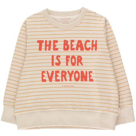 kids tinycottons manifesto stripes sweatshirt - light cream/honey