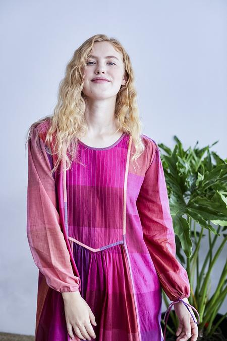 RUJUTA SHETH Tanya Dress - Sunset Multi Chex