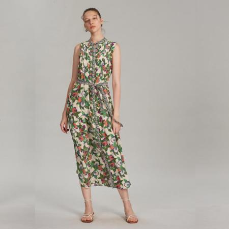 Saloni Remi Dress - Pomegranate Print