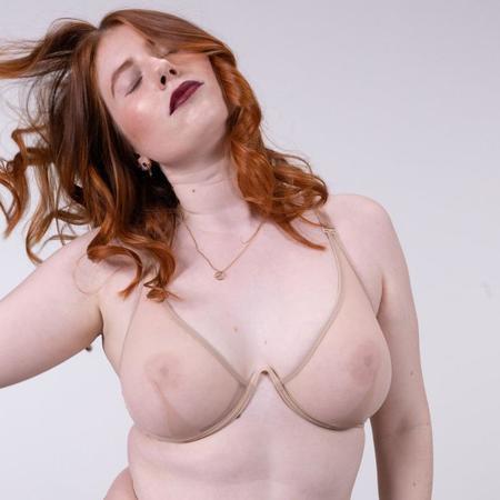 La Fille d'O Chime Fest Mono Wire V Bra - Nude