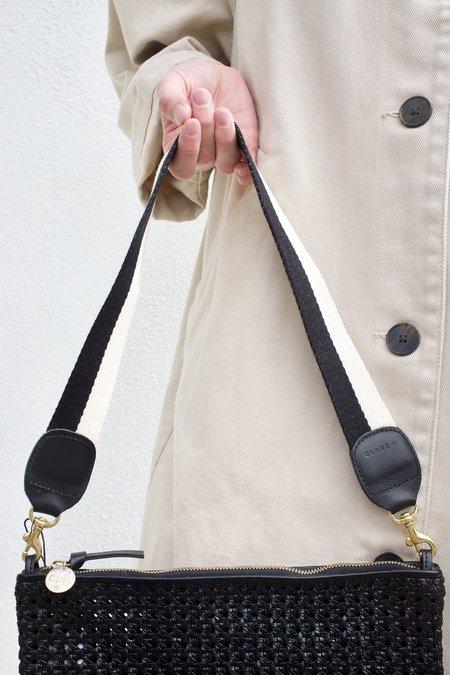 Clare V. Shoulder Strap - Black/White
