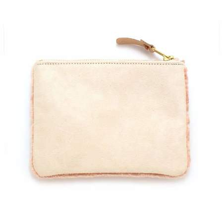 Mabel and Moss Faux Fur Zipper Pouch bag - Pink Unicorn