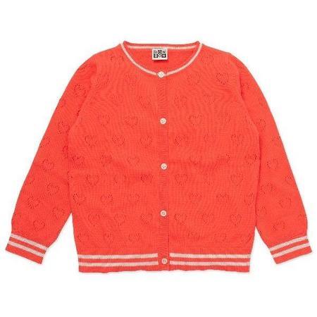 Kids Bonton Cardigan - Gaspacho Red