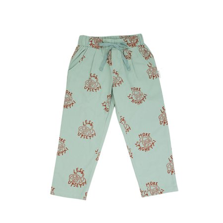 Kids Olive and the Captain More Spaghetti Pant - Mint Blue