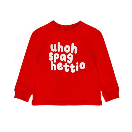 kids unisex Olive and the Captain Spaghettio Jumper sweater - red