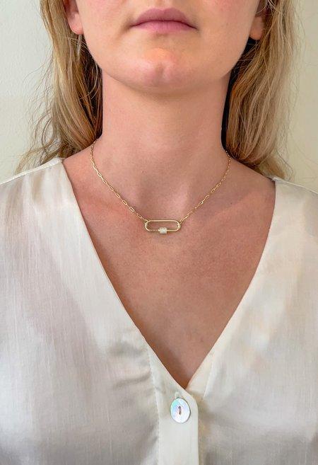 SS JEWELRY Pavé Crystal Lock Choker - Gold