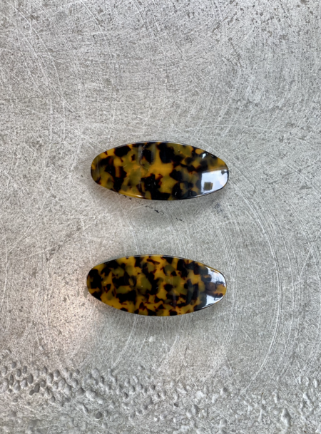 MERAKI BOUTIQUE Machete Jumbo Oval Hair Clip - Classic Tortoise