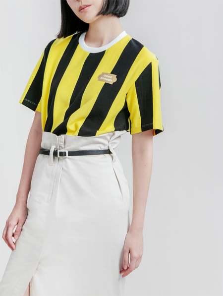 Unisex Matter Matters good enough Tee Shirt - Striped Yellow