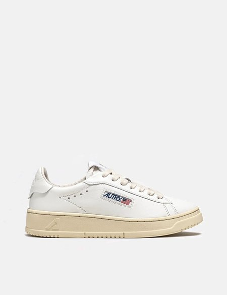 Autry Medalist Dallas NW01 Leather Trainers  - White