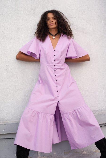 Veda MONTANA COTTON DRESS - LILAC