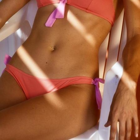 Laura Urbinati Candy Tie Side Bikini Bottom - Peach/Rose