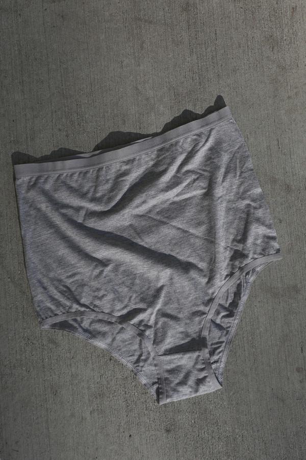 Baserange High Waist Underwear in Grey Melange