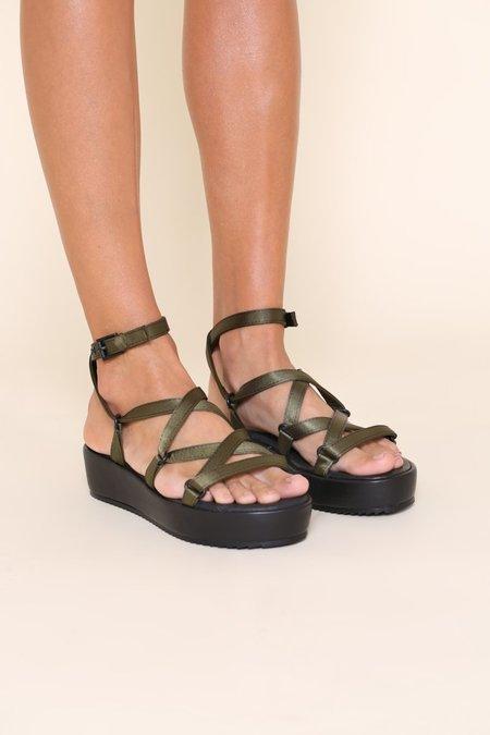 """INTENTIONALLY __________."" Sum 2 Sandals - Khaki"