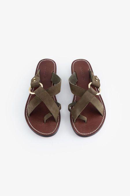 Soeur Jouvance Sandals - Khaki Suede