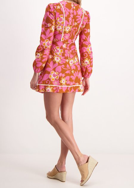 Warm Clay Chelsea Dress - orange/pink