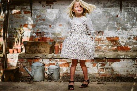 kids little cotton clothes Roberta Pinafore dress - Aster Floral