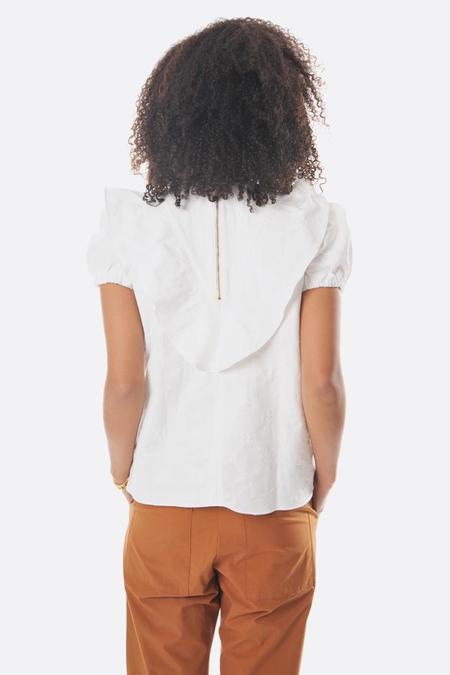 Fabiana Pigna puff sleeve Rita shirt - ivory