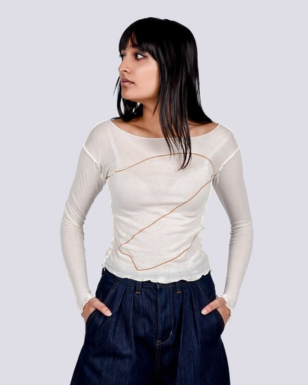 Baserange Mitrovica Long Sleeve - Ecru