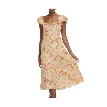 HVN Ruby Ruffle Dress - Blooming Garden