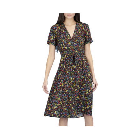 HVN Rosemary Button Down Dress - Neon Floral