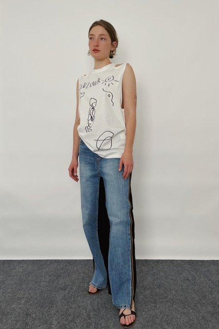 Theopen Product Shoulder Cut-out Boy Top - White