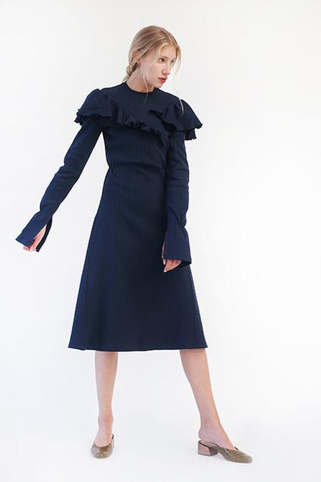 Chakshyn Ribbed Ruffle Dress