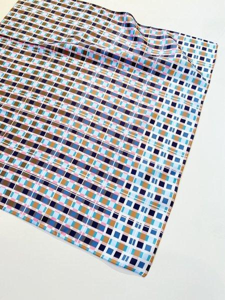 Épice Paris LS2151 Silk Plaid Carré Bandana scarf - F- black