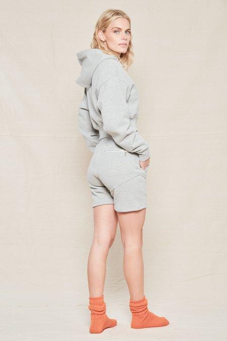 JOHN ELLIOTT COLLECTION Boca Zip Up Hoodie sweater - LIGHT HEATHER GRAY