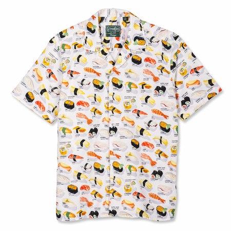 Gitman Bros. Omakase Sushi Camp Button Up Shirt - white multi