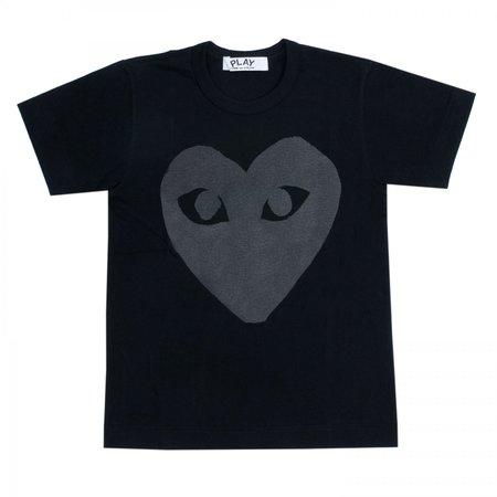 Comme des Garçons Big Heart Tee - Black/Black