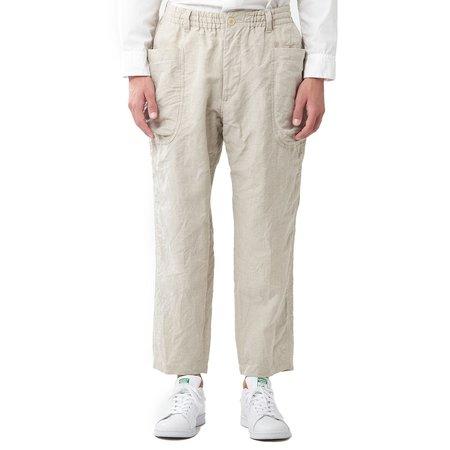 Sage de Cret Linen Blend Work Pants - Natural