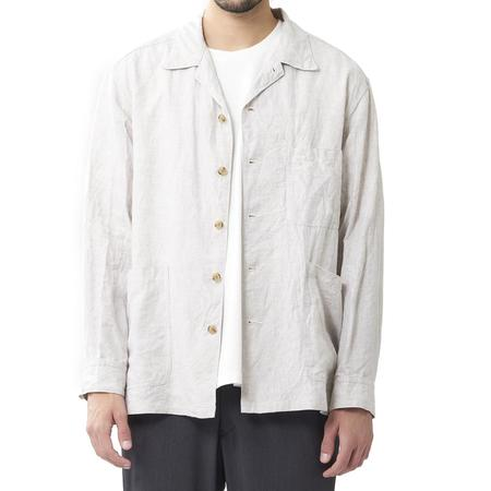 Sage de Cret French Linen Shirt Jacket - Natural