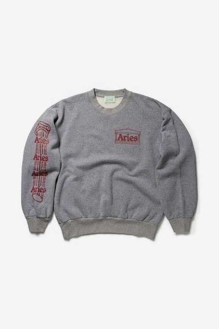 Aries Arise Column Sweatshirt - gray