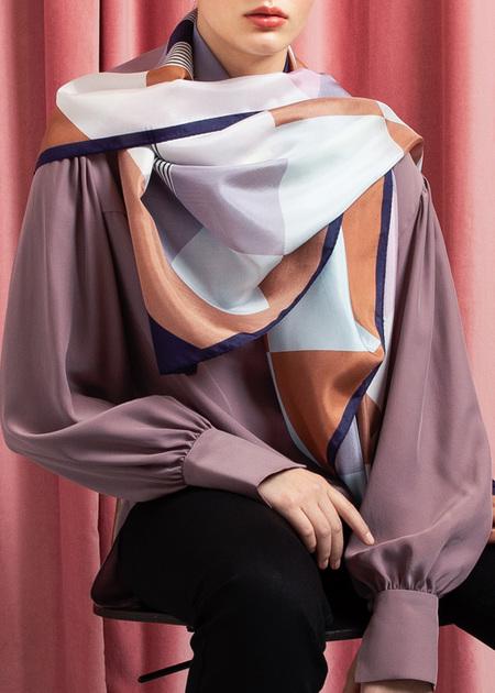 Studio Heijne Silk Scarf - Lovely Squares