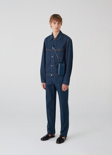 Lemaire Denim trucker jacket - jean blue