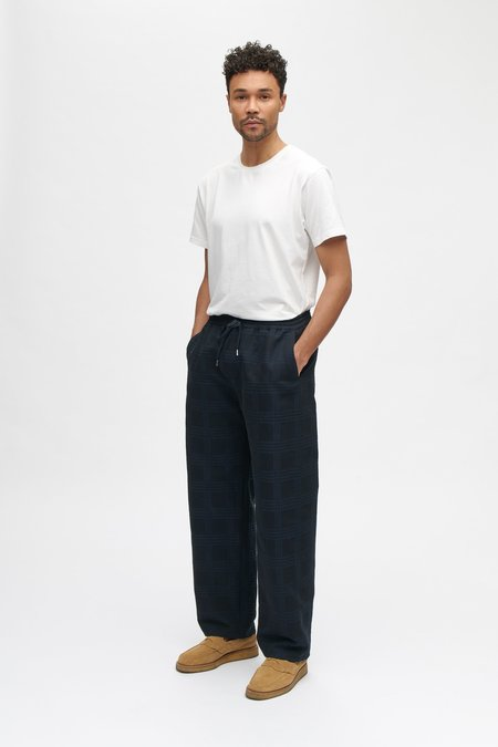 A Kind of Guise Samurai trousers - midnight jacquard