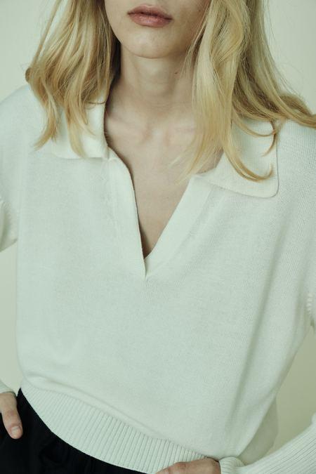 Parentezi Polo Sweater - Whisper White