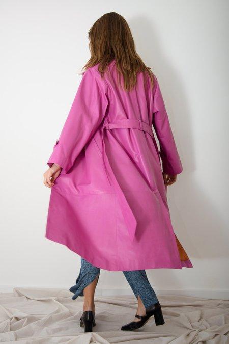 Jovana Markovic Leather Kimono Coat
